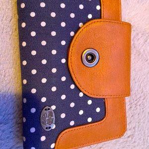 Roxy denim& leather wallet